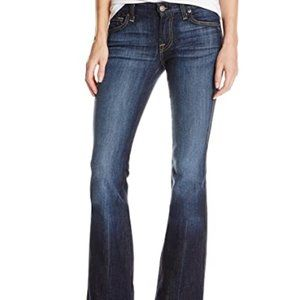 7FAM Super Low Rise Flared Jeans